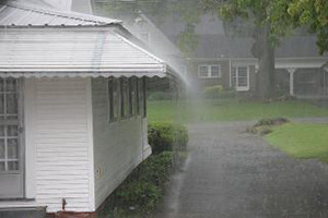 Stormwater running off roof