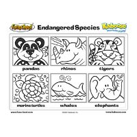 Endangered Species Coloring Sheet