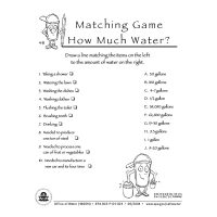 How Much Water Matching Game