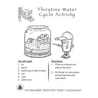 Thirstin's Water Cycle Activity Sheets
