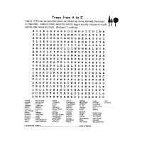 Trees from A-to-Z Word Search