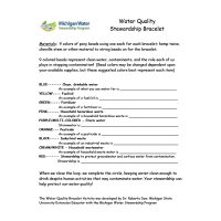 Water Quality Bracelets