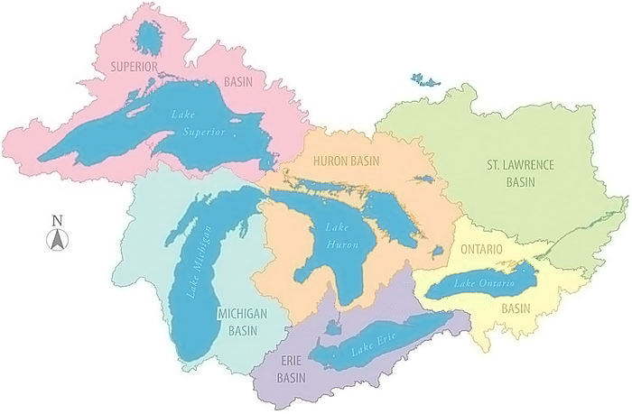 The Great Lakes Water Basins