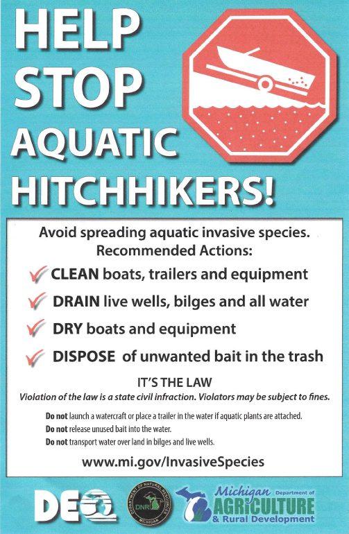 Help Stop Aquatic Hitchhikers! www.mi.gov/InvasiveSpecies