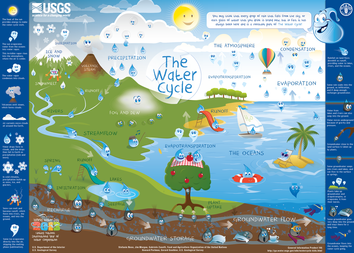 The Water Cycle for Schools and Kids